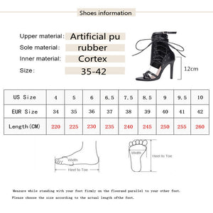 MBR FORCE 2018 Fashion Women Sandals Summer Gladiator Sandals High Heel Ankle Strap Sexy Women Shoe Cross-tied Party Shoes Plus - Vipbeautycompany