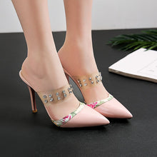 Load image into Gallery viewer, Nude Women Sweet Rhinestone Sandals Super High Heels Water Drill Red Bottom Shoes Woman Big Small Size 30 32 40 47 Women Shoes - Vipbeautycompany