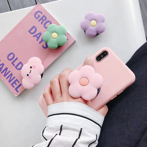 PPOSoket mobile phone soket stretch bracket Cartoon air bag Phone Expanding phone Stand Finger car phone Holder Pipsocket - Vipbeautycompany
