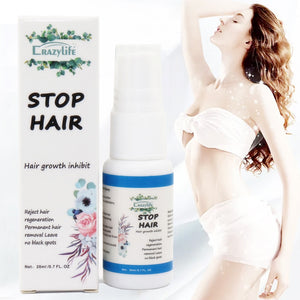 Powerful Permanent Painless Hair Removal Spray Hair Growth Inhibitor Removal Beard Bikini Intimate Face Legs Body Essence - Vipbeautycompany