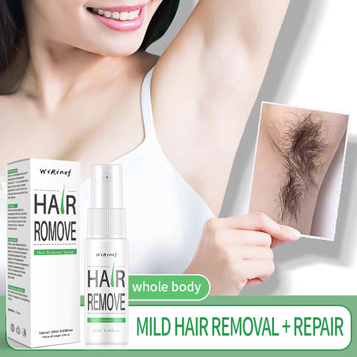 Powerful Permanent Painless Hair Removal Spray Hair Stop Growth Inhibitor Shrink Pores Skin Smooth Repair Essence - Vipbeautycompany