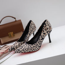 Load image into Gallery viewer, Red Bottom Women's Pumps Leopard Thin High Heels Shoes Fashion Sexy Pointed Toe Slip On 7 cm Office Party Shoes Schoenen Vrouw - Vipbeautycompany