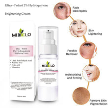 Load image into Gallery viewer, Strong effect whitening cream Ultrta-Potent 2% Hydroquinone Brightening Cream Remove Freckle melasma Acne Spots pigment Melanin - Vipbeautycompany