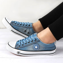 Load image into Gallery viewer, Summer Women Trainers Sneakers Denim Canvas Shoes Female Lace Up ladies Casual Shoes vulcanized shoes Basket Femme zapatilla - Vipbeautycompany