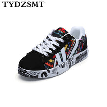 Load image into Gallery viewer, TYDZSMT 2020 Summer Woman Sneakers White Casual Shoes Lovers Printing Fashion Flat Ladies Vulcanized Shoes zapatos de mujer - Vipbeautycompany