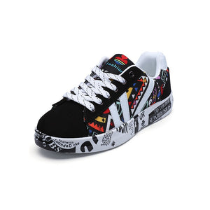 TYDZSMT 2020 Summer Woman Sneakers White Casual Shoes Lovers Printing Fashion Flat Ladies Vulcanized Shoes zapatos de mujer - Vipbeautycompany