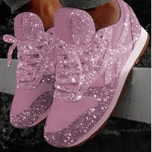 Load image into Gallery viewer, Women Bling Sneakers 2020 Autumn New Casual Flat Ladies Vulcanized Shoes Beathable Lace Up Sneakers Outdoor Sport Shoes - Vipbeautycompany
