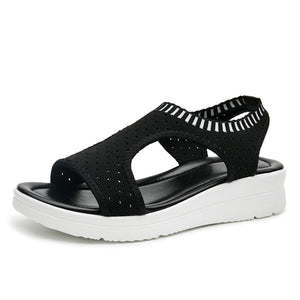 Women Sandals 2019 New Female Shoes Woman Summer Wedge Comfortable Sandals Ladies Slip-on Flat Sandals Women Sandalias - Vipbeautycompany