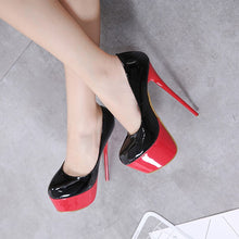 Load image into Gallery viewer, black pumps super high heels stripper heels red bottoms womens shoes heels party shoes block heel shoes female 2020 wedding shoe - Vipbeautycompany