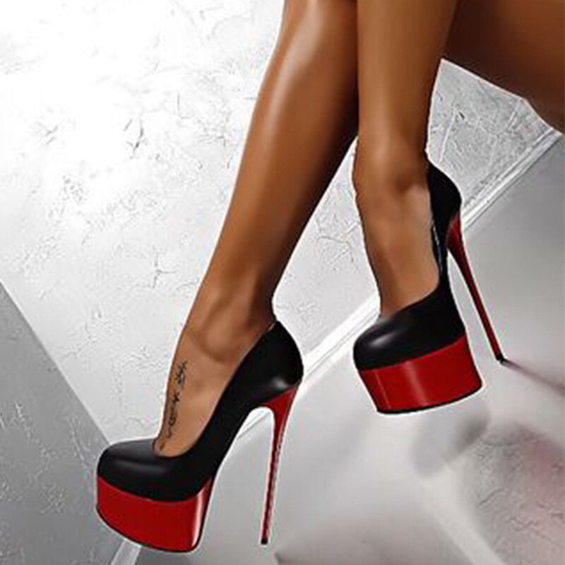 black pumps super high heels stripper heels red bottoms womens shoes heels party shoes block heel shoes female 2020 wedding shoe - Vipbeautycompany
