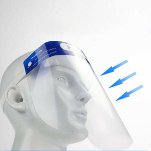 5 Pcs Plastic Full Face Shield Transparent Adjustable Windproof Dustproof Hat Shield Protective Face Mask - Vipbeautycompany
