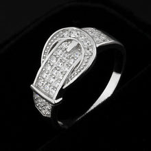 Load image into Gallery viewer, 2020 High Quality Genuine 925 Sterling Silver Wedding Engagement Delicate Accent Cubic Zirconia Rings For Lady - Vipbeautycompany