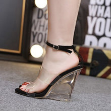 Load image into Gallery viewer, jelly shoes women sandals transparent designer sandals women luxury 2019 wedges high heels women peep toe sandals #G3 - Vipbeautycompany