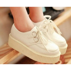 Women's Oxfords Creepers PU(Polyurethane) Comfort Spring / Fall White / Black / EU39 - Vipbeautycompany