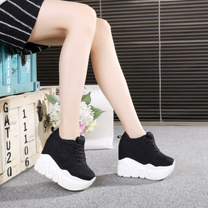 new 2020 Women Casual Platform Shoes Fashion High Heels Shoes Woman Wedges Women Shoes Loafers Heigh Increasing zapatos mujer - Vipbeautycompany
