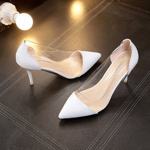 Women's Heels Low Heel Rubber Comfort Spring / Fall Black / Beige / Red - Vipbeautycompany