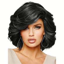 Load image into Gallery viewer, Human Hair Capless Wigs Human Hair Curly Short Hairstyles 2019 Side Part Medium Length Machine Made Wig Women's
