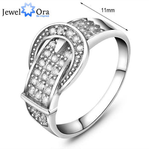 2020 High Quality Genuine 925 Sterling Silver Wedding Engagement Delicate Accent Cubic Zirconia Rings For Lady - Vipbeautycompany
