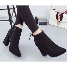 Load image into Gallery viewer, Women's Boots Chunky Heel Nubuck leather Booties / Ankle Boots Comfort / Fashion Boots Fall / Winter Black / Gray / Camel - Vipbeautycompany