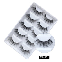 Load image into Gallery viewer, MB 5 Pairs Mink Eyelashes 2019 New 3D Mink Lashes Thick HandMade Full Strip Fake Lashes Make up Eye lashe False Eyelashes Makeup - Vipbeautycompany