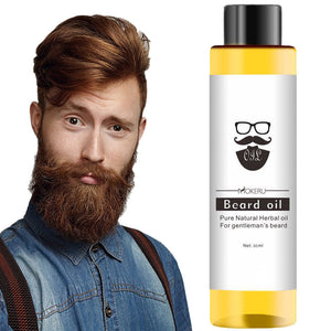 Mokeru Follicle Repair Oil Men Styling Moustache Oil Hair Growth of Beard Body Hair Eyebrow Care Moisturizing Smoothing TSLM1 - Vipbeautycompany