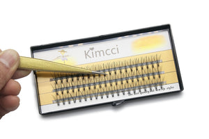 Kimcci 0.10C Natural Makeup False Eyelashes Extension 3D Russian Volume Faux Eyelashes Individual Mink Eye Lashes Makeup Cilios - Vipbeautycompany