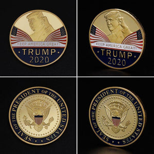 Commemorative Coin America President Trump 2020 Collection Speech Crafts Art Storage Souvenir Alloy Round Gifts - Vipbeautycompany