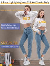 Load image into Gallery viewer, luckinyoyo jean woman mom jeans pants boyfriend jeans for women with high waist push up large size ladies jeans denim 5xl 2019