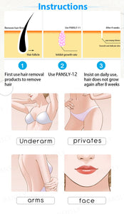 Pansly Hair Growth Inhibitor facial  Removal cream Spray Beard Bikini Intimate Face Legs Body Armpit Painless  Dropshipping