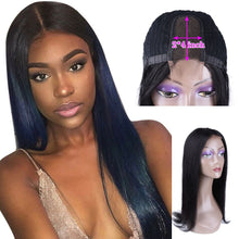 Load image into Gallery viewer, Sophie's Brazilian Straight 2*4 Middle Part Lace Part Wig Human Hair Wigs Non-Remy With Baby Hair Pre Plucked Natural Color - Vipbeautycompany