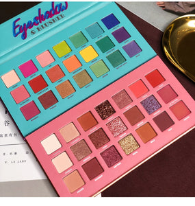 21 Color Colorful Rainbow Makeup Eyeshadow Palette Matte Shimmer Pigmented Glitter Makeup EyeShadow Pallete Summer Collection - Vipbeautycompany