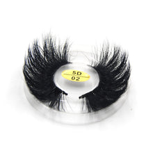 Load image into Gallery viewer, 5D 25mm mink false eyelashes 3styles package to choose 100% hand made real mink soft Luxury drama Wholesale eye makeup 5D02 - Vipbeautycompany