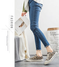Load image into Gallery viewer, Leopard Canvas Platform Low Top Casual Sneakers - Vipbeautycompany