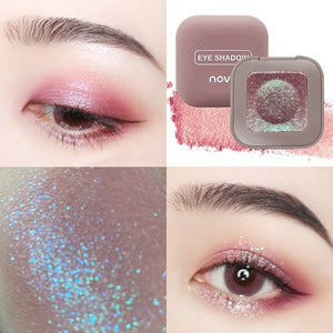 NOVO Pigment Glitter Eyeshadow Long Lasting Single Fingertip eye shadow New Trend Color Shimmer Metallic Eye Makeup Waterproof - Vipbeautycompany
