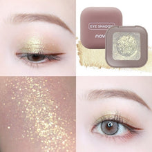 Load image into Gallery viewer, NOVO Pigment Glitter Eyeshadow Long Lasting Single Fingertip eye shadow New Trend Color Shimmer Metallic Eye Makeup Waterproof - Vipbeautycompany