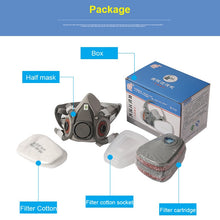 Load image into Gallery viewer, Half Face painting spraying respirator gas mask protect dust mask for Safety Work Filter welding Spray protective anti pollution