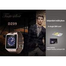 Load image into Gallery viewer, DZ09 Bluetooth Smart Watch 2G GSM SIM Phone Call Support TF Card Camera Wrist Watches for iPhone Samsung HuaWei Xiaomi - Vipbeautycompany