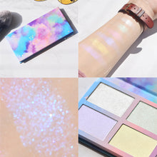 Load image into Gallery viewer, 3D Highlighter Powder Palette 6 Color High Gloss Shimmer Bronzer Face Brighten Contour Pallete Makeup Highlight Cosmetic - Vipbeautycompany