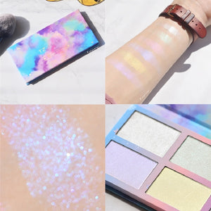 3D Highlighter Powder Palette 6 Color High Gloss Shimmer Bronzer Face Brighten Contour Pallete Makeup Highlight Cosmetic - Vipbeautycompany
