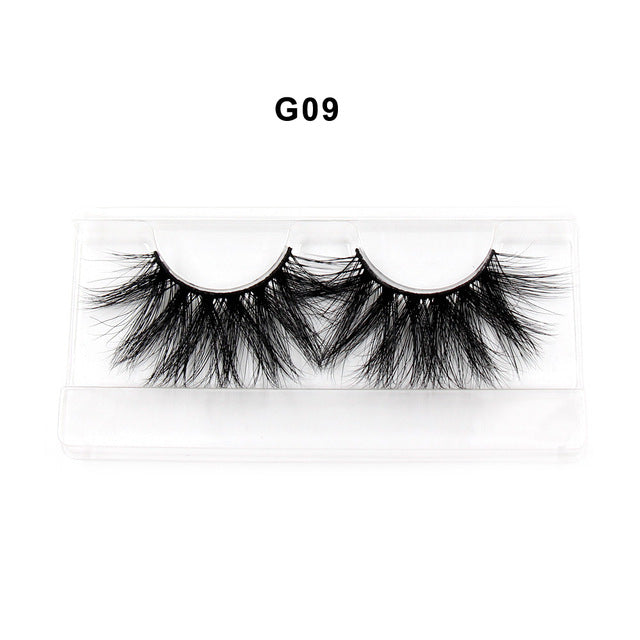 SOQOZ 25mm Lashes False Eyelashes 3D Mink Lashes Luxury Criss-cross Eye Lashes Handmade Fluffy 25 mm Dramatic Eyelashes Makeup - Vipbeautycompany
