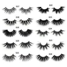 Load image into Gallery viewer, SOQOZ 25mm Lashes False Eyelashes 3D Mink Lashes Luxury Criss-cross Eye Lashes Handmade Fluffy 25 mm Dramatic Eyelashes Makeup - Vipbeautycompany