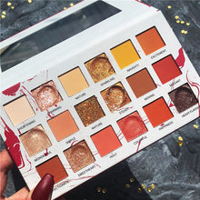 Load image into Gallery viewer, 18 Color Orange Eyeshadow Palette Shimmer Matte Glitter Eye Shadow Pallete Silky Powder Nature Pigmented Pallete Eye Makeup - Vipbeautycompany