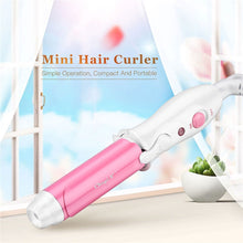 Load image into Gallery viewer, Travel Style Portable Ceramic Hair Curler Women Mini Curling Iron Curling Wand rizador pelo Magic Hair Styling Tool Hair Care - Vipbeautycompany
