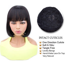 Load image into Gallery viewer, Short Human Hair Wigs Human Hair Short Wig Bob Hair Wig Human Hair Wigs With Bangs Brazilian Hair Wig For Black Women Non Remy - Vipbeautycompany