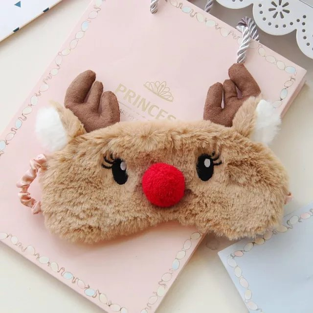 Cute Animal Sleep Eye Mask Plush Eye Cover Kids Sleeping Mask Winter Cartoon Travel Rest Eye band Blindfolds Sleep Aid Eyepatch - Vipbeautycompany