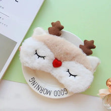 Load image into Gallery viewer, Cute Animal Sleep Eye Mask Plush Eye Cover Kids Sleeping Mask Winter Cartoon Travel Rest Eye band Blindfolds Sleep Aid Eyepatch - Vipbeautycompany