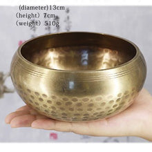 Load image into Gallery viewer, Brass Chime Bronze Qing Buddha Sound Bowl Nepal Tibet Chant Yoga Meditation Chanting Bowl Handicraft Sanskrit Brass Singing Bowl - Vipbeautycompany