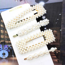 Load image into Gallery viewer, Ins Fashion 1Set Women Girls Elegant Pearls Hair Clips Sweet Headwear Hairpins Barrettes Acetate Hair Accessories set Hairwear - Vipbeautycompany
