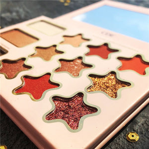 12 Color Eyeshadow Pallete Glitter Makeup Shimmer Matte Eye shadow Palette Pigmented Makeup Palette Maquillage Paleta De Sombra - Vipbeautycompany