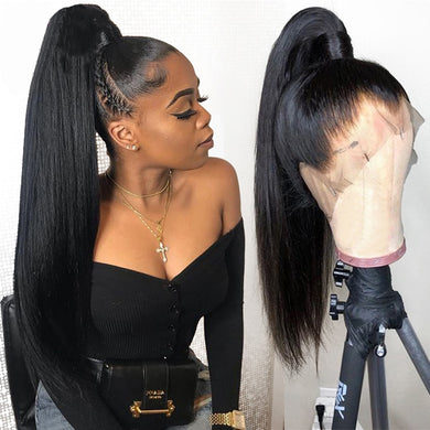 Sapphire Straight Peruvian Pre Plucked Full Lace Human Hair Wigs Glueless Full Lace Wigs Natural Full Lace Wig With Baby Hair - Vipbeautycompany